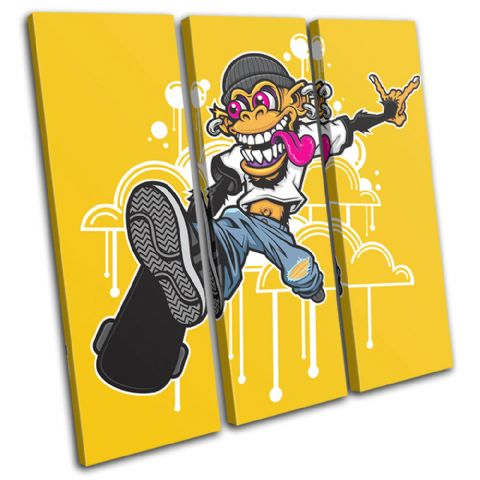 Skateboarding  Monkey Graffiti - 13-0524(00B)-TR11-LO